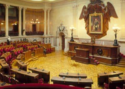 Remodelação do Sistema de AVAV da Sala do Senado do Palácio de São Bento